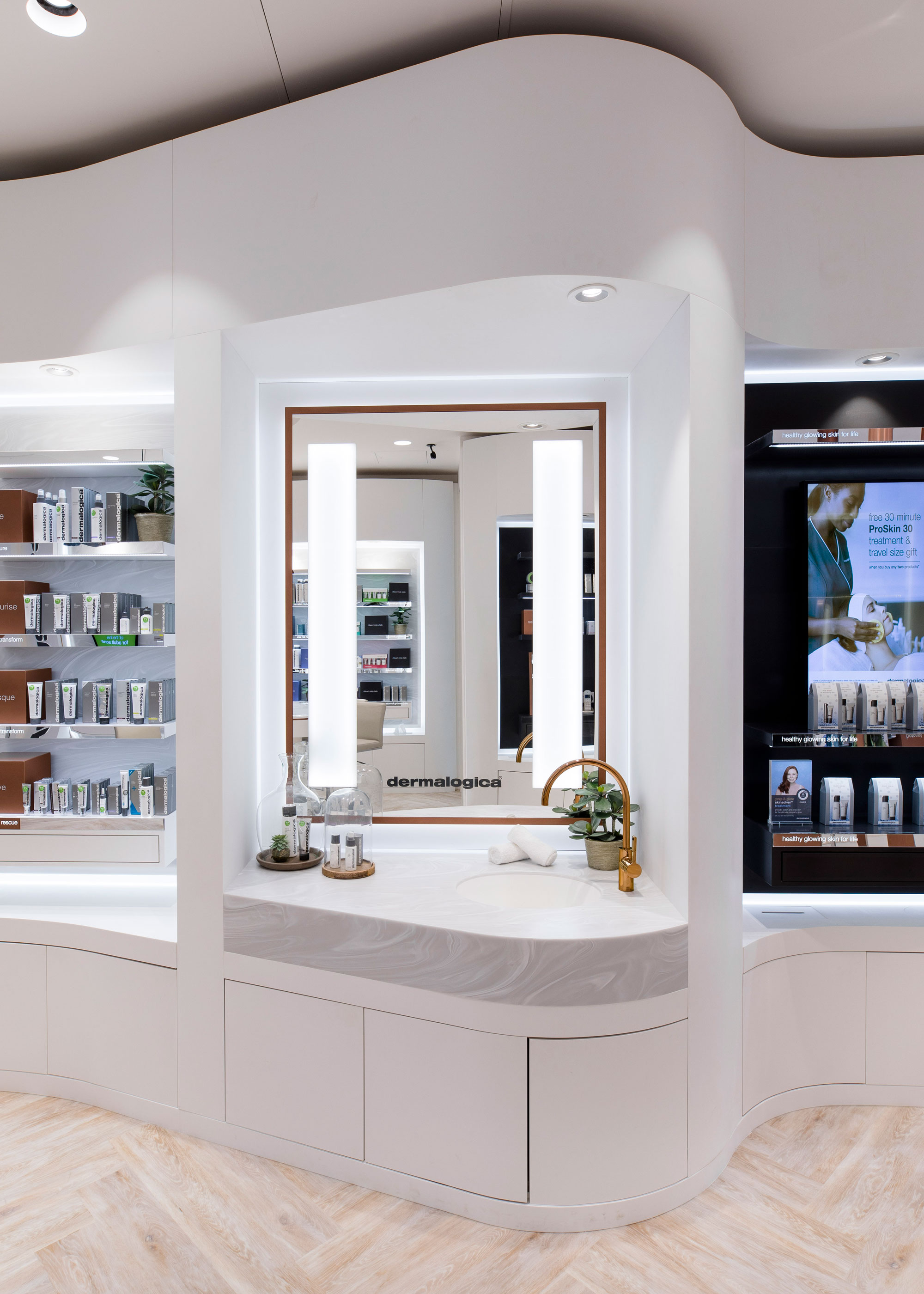 Dermalogica Flagship Store Uses Corian 174 Design To Create An Exclusive And