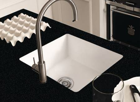 Corian® Neat Sink 859 In Glacier White With Countertop In Corian® Deep  Night Sky