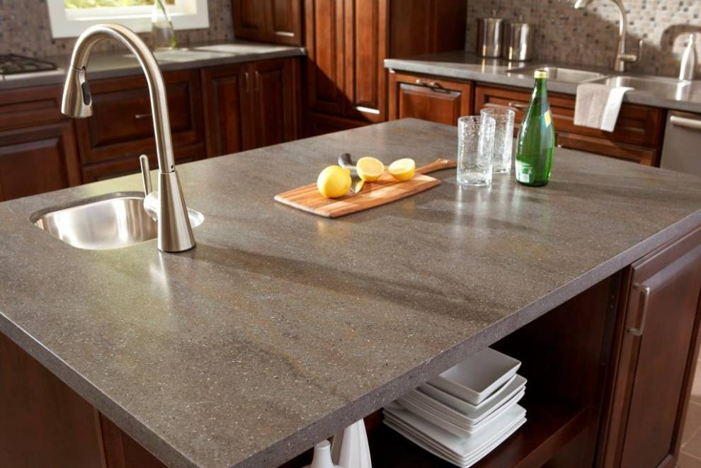 Countertop In Corian Lava Rock