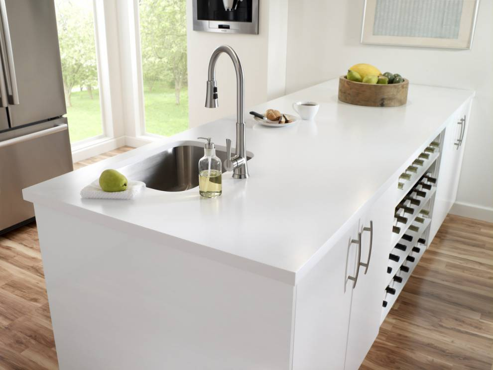 Countertop in Corian Designer White